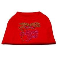 Mirage Pet Products 5247 XSRD Mardi Gras Rhinestud Shirt Red XS 8