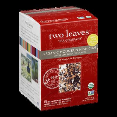 Two Leaves Tea Company Organic Mountain High Chai Whole Leaf Tea Sachets - 15 CT