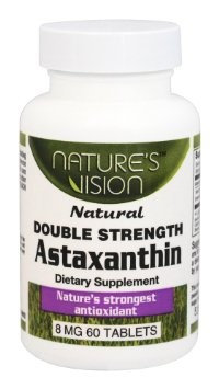 Natures Vision Nature's Vision - Astaxanthin Natural Double Strength 8 mg. - 60 Tablets