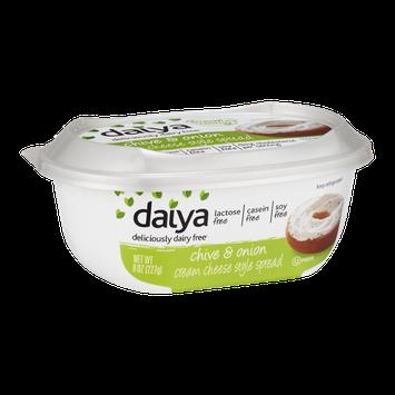 Daiya Dairy Free Cream Cheese Style Spread Chive & Onion