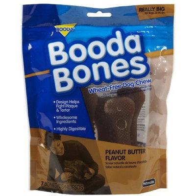 Booda Bones Really Big Bone 7 Pack (For Dogs 35 - 50 lbs) - Peanut Butter