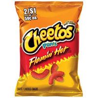 Cheetos® Flamin' Hot Puffs FLAMIN'  Cheese Flavored Snacks