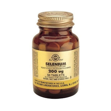 Seleno 6 200 mcg Yeast-Free Selenium - Helps neutralize the effects of free radicals within body tissue, 50 Tabs,(Solgar)