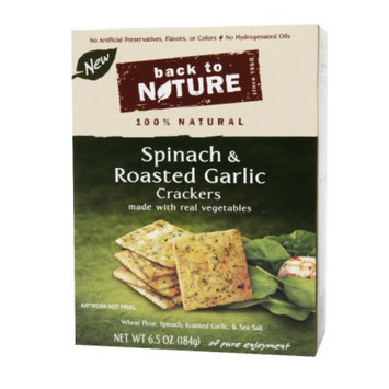 Back to Nature Spinach And Garlic Crackers, 6.5 oz