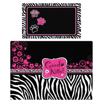 RPM International, Inc. Drymate Multi-Use Exotics Pet Mat Set - Pink and Black (2 Count)