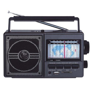 Supersonic 11 Band AM/FM/SW Radio with USB & SD Card Slot