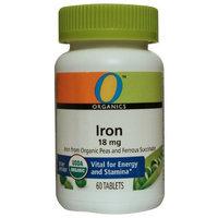 O Organics Iron 18 mg, 60-Count Bottle