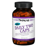 TwinLab Daily Two Caps With Iron Multiple Vitamin & Mineral Capsules