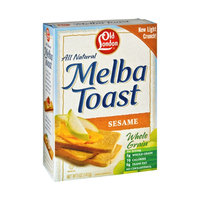 Old London All Natural Sesame Melba Toast