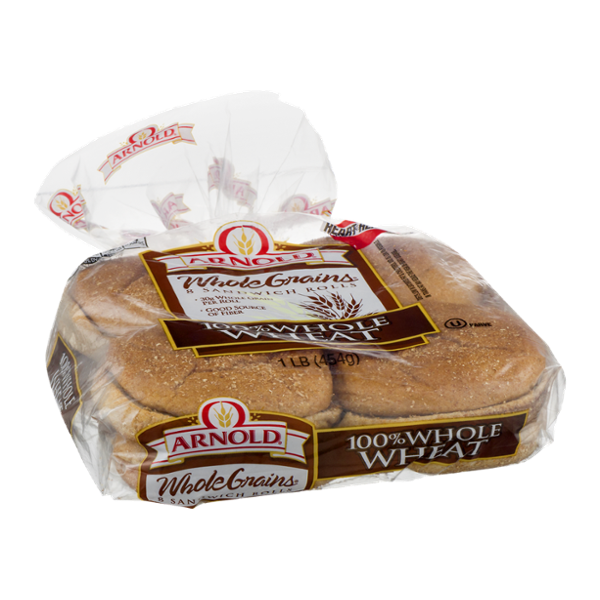 Arnold Whole Grains Sandwich Rolls 100% Whole Wheat - 8 CT