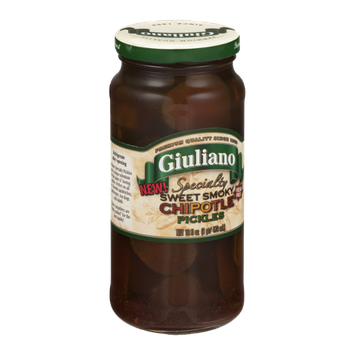 Giuliano Specialty Sweet Smoky Chipotle Pickles