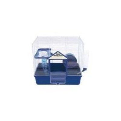 Ware Manufacturing Plastic Base 2 Level Home Sweet Home Hamster Cage with Wire Top, 16-Inch