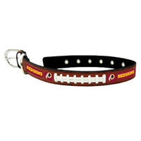 GameWear Washington Redskins Classic Leather Large Football Collar