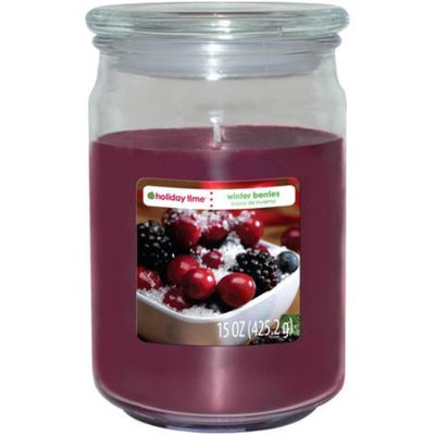 Holiday Time 15-oz Jar Candle, Winter Berries