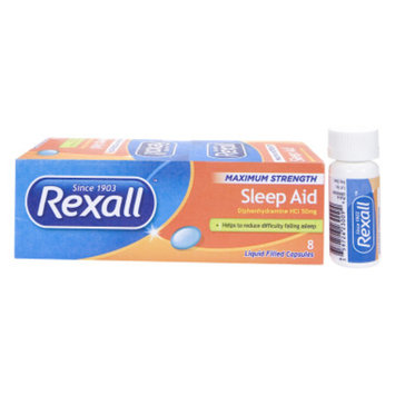 Rexall Sleep Aid - Liquid Filled Capsules, 8 ct