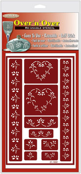 Armour Products Hearts -Over N Over Stencil