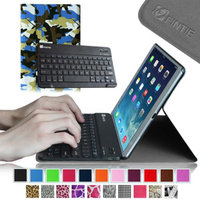 Fintie SmartShell Cover with Wireless Bluetooth Keyboard Case for Apple iPad Air / iPad 5, Camouflage Green
