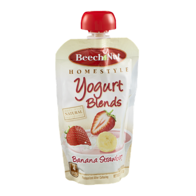 Beech Nut Homestyle Yogurt Blends Banana Strawberry