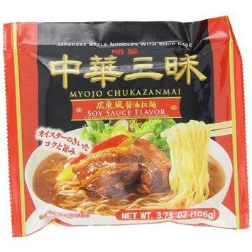 Myojo Chukazanmai Instant Ramen Soy Sauce Flavor, 3.73-Ounce (Pack of 6)