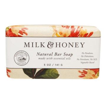 Vineyard Hill Naturals Natural Bar Soap, Milk & Honey, 5 oz