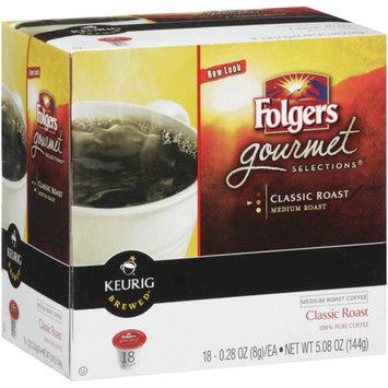 Smucker's Keurig Folgers Gourmet Selections Classic Medium Roast K-Cup Packs 18