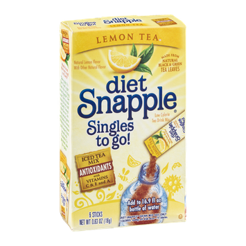 Snapple Diet Singles To Go! Lemon Tea - 6 CT
