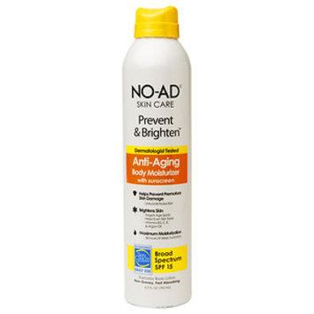 No-ad NO-AD Prevent & Brighten Anti-Aging Body Moisturizer SPF 15, Spray, 6.5 fl oz
