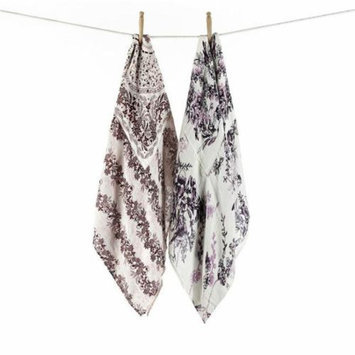 Munchkin Swaddle Angel Bamboo Blankets - Bird Floral And Morning Floral Prints