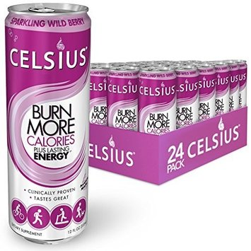 Celsius Sparkling Wild Berry, 12-Ounce Cans (Pack of 24)