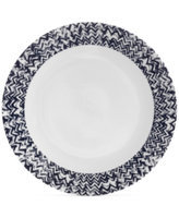 Vera Wang Wedgwood Simplicity Indigo Chevron Dinner Plate