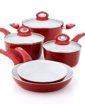 Bialetti 8-Piece Aeternum Ceramic Non-Stick Cookware Set, Red