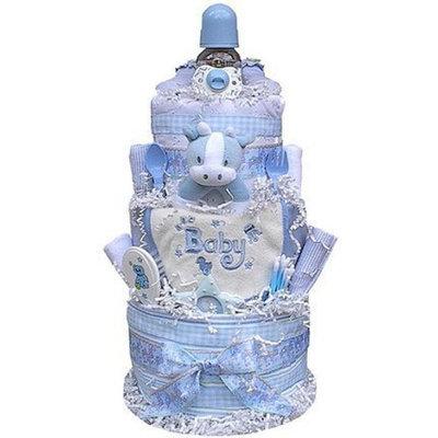 Baby Gift Idea Babygiftidea Decorative Centerpiece Newborn Baby Shower Gift 3 Tiered Diaper Cake- boy