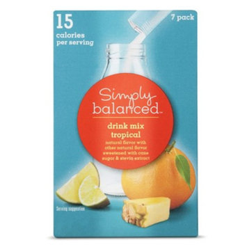 Simply Balanced Tropical Drink Mix Packets 7 ct