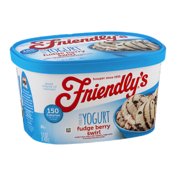 Friendly's Frozen Yogurt Fudge Berry Swirl