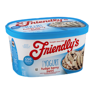 Friendly's Frozen Yogurt Fudge Berry Swirl