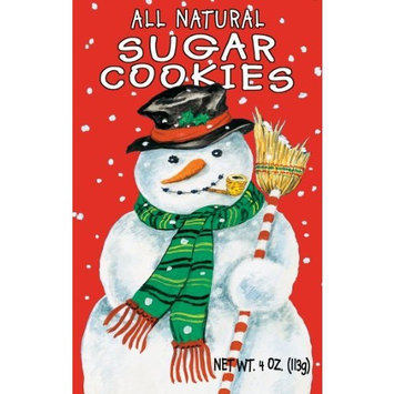 Snowman Sugar Cookies, 4-Ounce (Pack of 8)