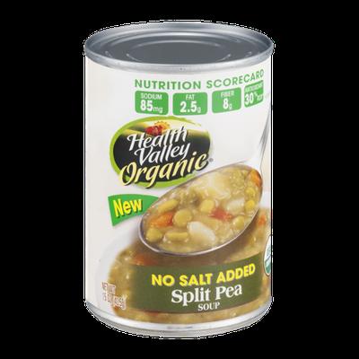 Health Valley Organic Soup Split Pea No Salt Added