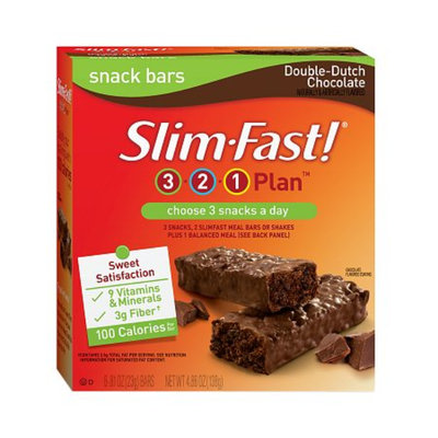 Slim-Fast Snack Bars 6 Pack Double Chocolate