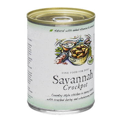 Variety Pet Foods Savannah Crockpot Fine Food for Dogs