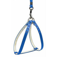 Mirage Dog Supplies Step-In Harness Blue W/ Blue Stones 18