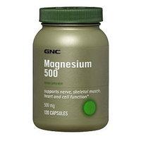GNC Magnesium 500, Capsules, 120 ea