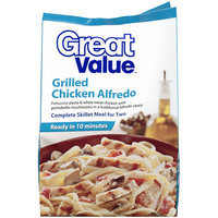 Great Value Grilled Chicken Alfredo Complete Skillet Meal For Two, 24 oz