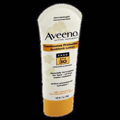 Aveeno Face SPF 30 Sunblock Lotion