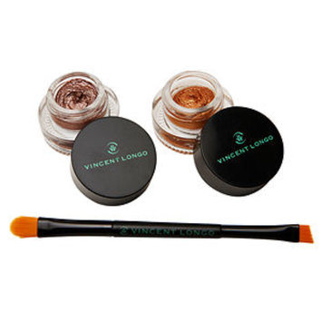 Vincent Longo Creme Gel Liner Duo with double ended brush, Flamenco, Golden Orbit, 1 ea