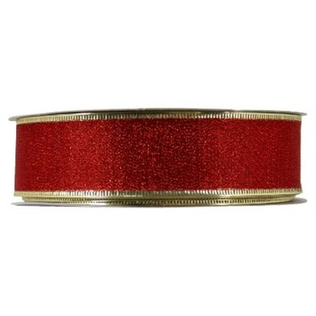 Holiday Red and Gold Decorating Ribbon - 100ft