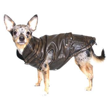 Hip Doggie Inc Hip Doggie Vintage Bomber Jacket with Removable Fleece Hood, L