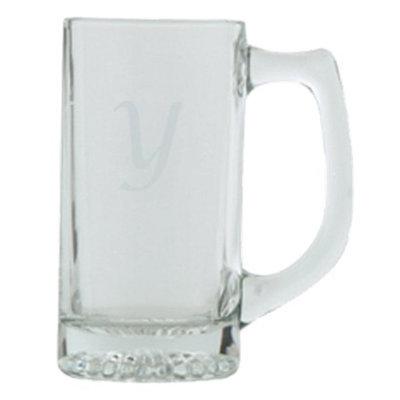 T&C Innovators Script Monogram Beer Mug Set of 4 - Y