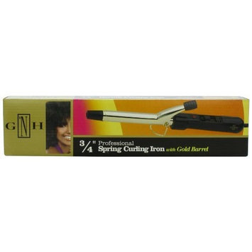 Belson Gold 'N Hot Professional Gold Barrel Curling Iron, 3/4 Inch