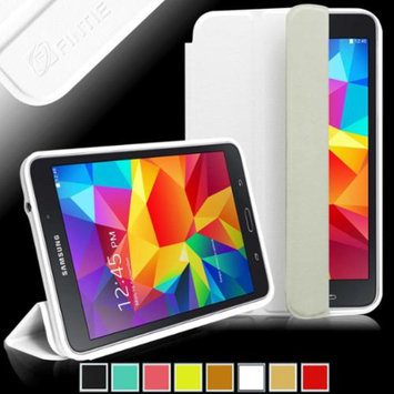 Fintie Ultra Slim Lightweight All-around Protection Omni Case Cover for Samsung Galaxy Tab 4 8.0 inch Tablet, White