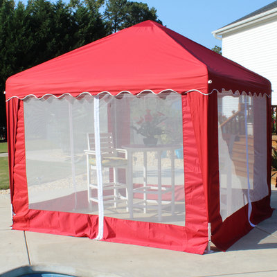 King Canopy Garden Party Red - Red (10'x10')